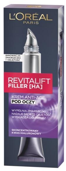 Hyaluron-Filler Augenpflege - L'Oreal Paris Revitalift Filler HA Anti-Age Eye Cream