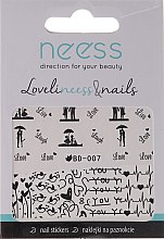 Düfte, Parfümerie und Kosmetik Nagelsticker 3684 BD-007 - Neess