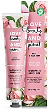 Düfte, Parfümerie und Kosmetik Zahnpasta mit Rose und Aloe Vera - Love Beauty And Planet Rose&Aloe Vera