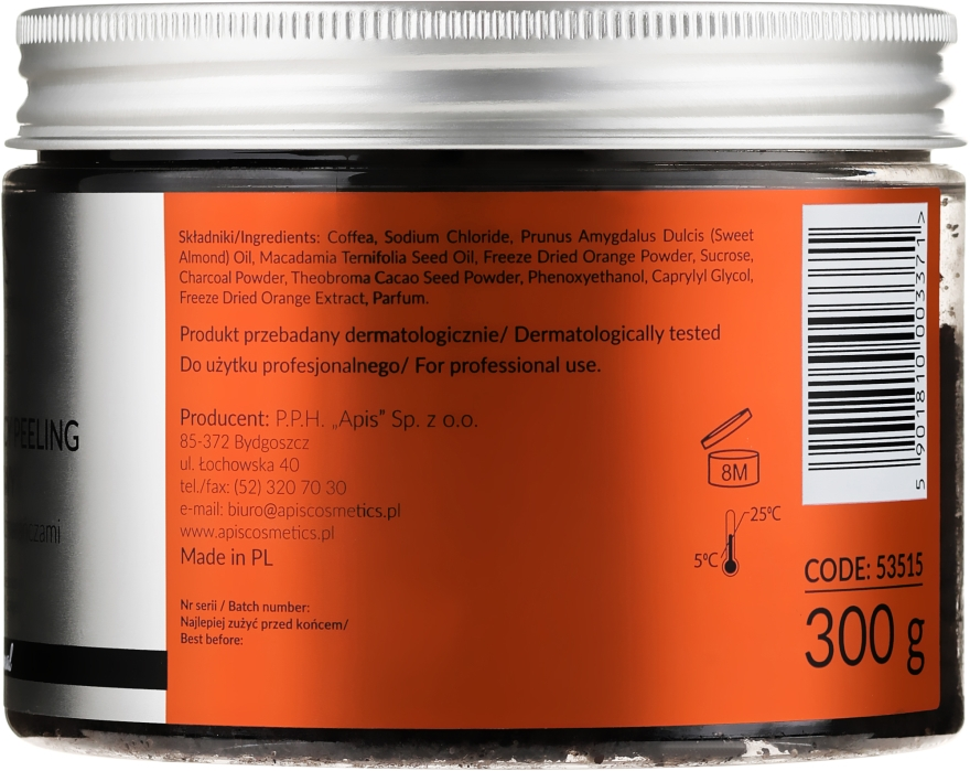Kaffeekörperpeeling mit Orange - Apis Professional Detoxifying Coffee Scrub Orange — Bild N3