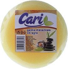 Düfte, Parfümerie und Kosmetik Badeschwamm rund gelb-weiß - Cari