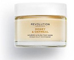 Düfte, Parfümerie und Kosmetik Pflegende Gesichtsmaske mit Honig und Haferflocken - Makeup Revolution Honey & Oatmeal Nourish & Glow Face Mask