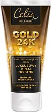 Düfte, Parfümerie und Kosmetik Luxuriöse Fußcreme mit 24K Gold und Manuka-Honig - Celia De Luxe Gold 24K Luxurious Foot Cream