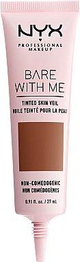 Flüssige Foundation mit Active Light-Technologie und SPF 10 - NYX Professional Bare With Me Tinted Skin Veil — Bild N3