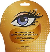 Düfte, Parfümerie und Kosmetik Augenpatches mit Gold und Kollagen - Beauugreen Micro Hole Eye Patch Gold Collagen