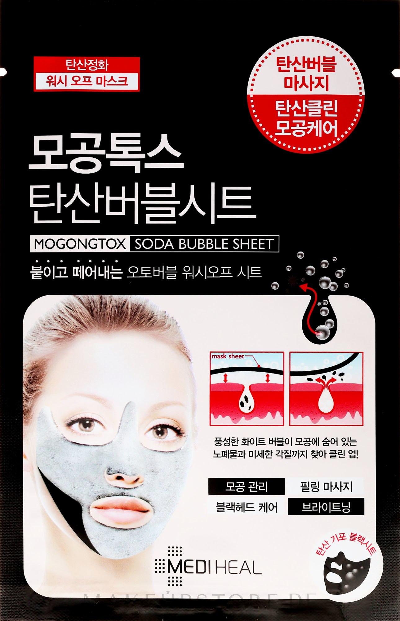 Straffende Tuchmaske - Mediheal Mogongtox Soda Bubble Sheet — Bild 18 ml