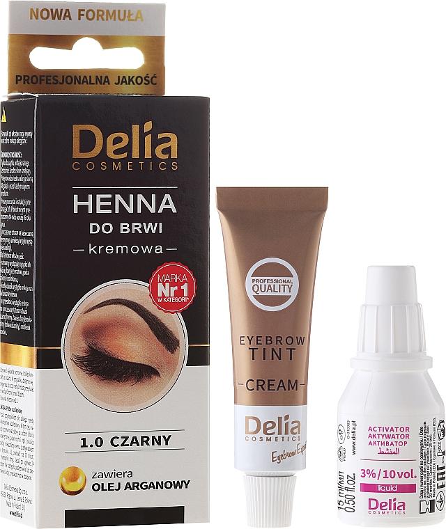 Creme-Henna für Augenbrauen - Delia Cosmetics Cream Eyebrow Dye