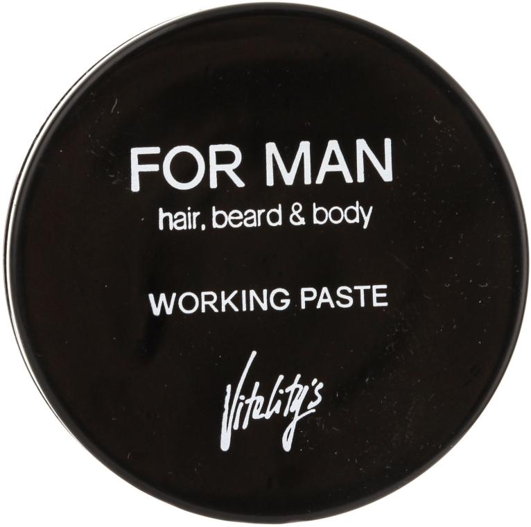 Mattierende Haarpaste - Vitality's For Man Working Paste — Bild N1