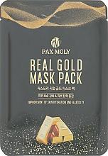 Düfte, Parfümerie und Kosmetik Aufhellende und regenerierende Tuchmaske fur das Gesicht mit kolloidalem Gold - Pax Moly Real Gold Mask Pack