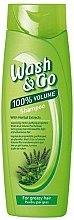 Düfte, Parfümerie und Kosmetik Shampoo für fettiges Haar mit Kräuterextrakt - Wash&Go