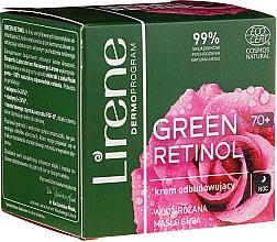 Düfte, Parfümerie und Kosmetik Regenerierende Gesichtscreme mit Sheabutter und Rosenwasser - Lirene Green Retinol Rebuilding Night Cream