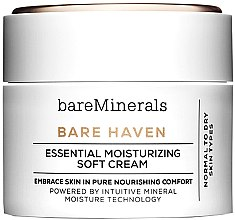 Düfte, Parfümerie und Kosmetik Feuchtigkeitsspendende Gesichtscreme für normale bis trockene Haut - Bare Escentuals Bare Minerals Bare Haven Essential Moisturizing Soft Cream