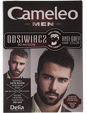 Anti-Grau Haarfarbe für Männer grau - Delia Cameleo Men Anti Grey Hair Color — Bild N1