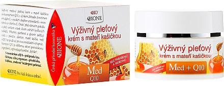 Nährende Gesichtscreme mit Honig und Q10 - Bione Cosmetics Honey + Q10 Cream — Bild N1