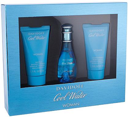 Davidoff Cool Water Woman - Duftset (Eau de Toilette 30ml + Körperlotion 50ml + Duschgel 50ml) — Bild N1