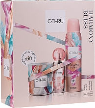 Düfte, Parfümerie und Kosmetik C-Thru Harmony Bliss - Duftset (Deospray 150ml + Eau de Toilette 30ml + Duftkerze 1 St.)