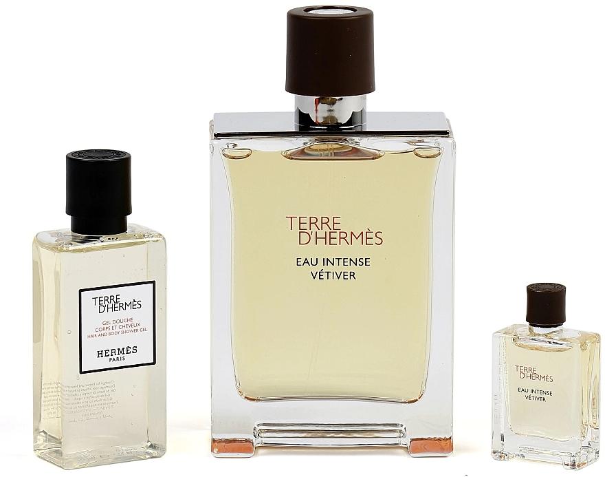 Hermes Terre d'Hermes Eau Intense Vetiver - Duftset (Eau de Parfum 100ml + Duschgel 40ml + Eau de Parfum 5ml) — Bild N3