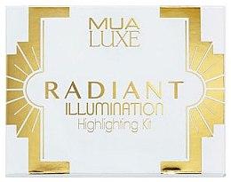 Düfte, Parfümerie und Kosmetik Highlighter-Palette - MUA Luxe Radiant Illumination Highlighting Kit