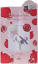Düfte, Parfümerie und Kosmetik Cellulose-Tuchmaske mit Granatapfelextrakt - Sally's Box Loverecipe Pomegranate Mask