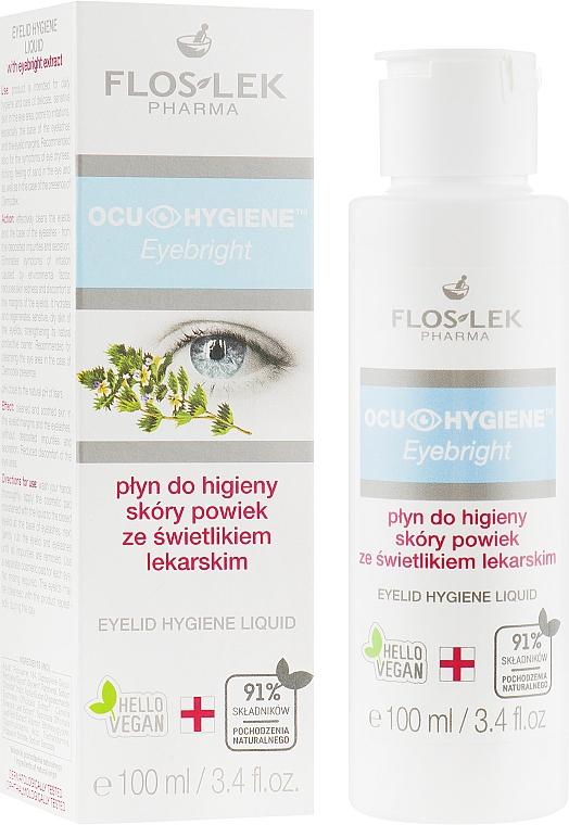 Hygienisches Augenfluid mit Kräuterextrakt - Floslek Eyebright Eyelid Hygiene Liquid — Bild N1