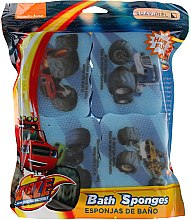 Düfte, Parfümerie und Kosmetik Kinder-Badeschwamm-Set Blaze And The Monster Machines 4 St. hellblau - Suavipiel Bath Sponges Blaze And The Monster Machines