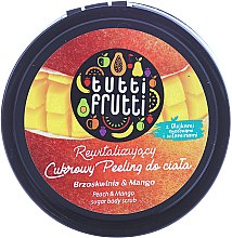 "Körperpeeling mit Zucker ""Pfirsich & Mango"" - Farmona Tutti Frutti Sugar Scrub — Bild N1"
