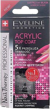 Schnelltrocknender Überlack mit Gel-Glanz-Effekt - Eveline Cosmetics Nail Top Coat Acrylic Gel — Bild N1
