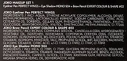 Augenpflegeset (Eyeliner 5g + Lidschatten 5g + Augenbrauenstift 5g) - Joko Makeup Set 1 — Bild N5