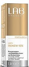 Düfte, Parfümerie und Kosmetik Aufhellende, glättende und revitalisierende Augenkonturcreme - Lirene Lab Therapy Revitality Opti Renew 15%