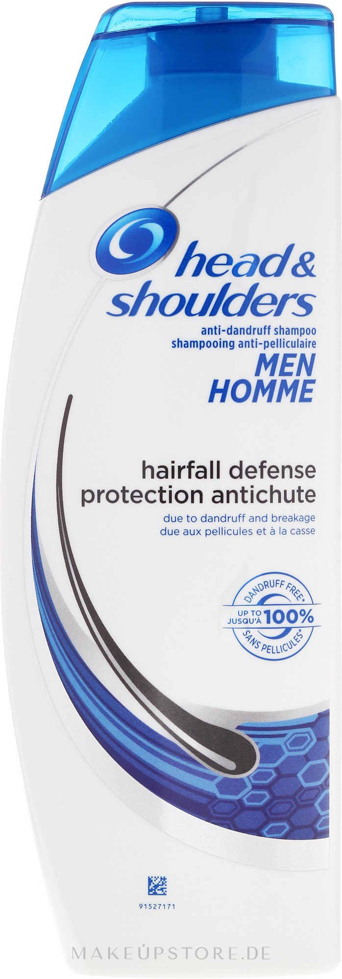 Keratin Shampoo gegen Haarausfall - Head & Shoulders Hairfall Defense Shampoo — Bild 400 ml