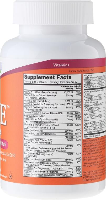 Nahrungsergänzungsmittel Eve für Frauen mit Preiselbeere, Alpha-Liponsäure und Coenzym Q10 - Now Foods Eve Womans Multi — Bild N4