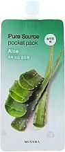 Düfte, Parfümerie und Kosmetik Gesichtsmaske mit Aloe Vera-Extrakt - Missha Pure Source Pocket Pack Aloe