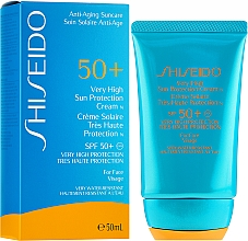 Düfte, Parfümerie und Kosmetik Sonnenschutzcreme für das Gesicht - Shiseido Very High Sun Protection SPF50