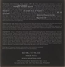 Schützende Anti-Falten Gesichtscreme mit Vitaminen SPF 50 - Sevenea Protective Anti-Pollution Face Cream SPF50 — Bild N3