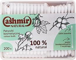 Düfte, Parfümerie und Kosmetik Wattestäbchen 200 St. - Cashmir Natural Cotton Buds (Box)