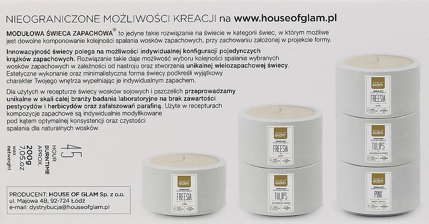 Soja-Duftkerze Freesia Alba - House of Glam Raw White Collection Freesia Alba Candle — Bild N3