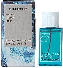 Düfte, Parfümerie und Kosmetik Korres Water Cedar Lime - Eau de Toilette
