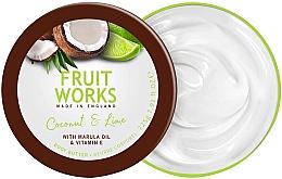 Düfte, Parfümerie und Kosmetik Körperbutter mit Kokosnuss und Limette - Grace Cole Fruit Works Body Butter Coconut & Lime