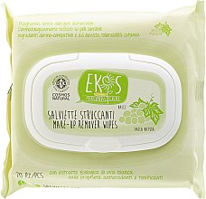 Düfte, Parfümerie und Kosmetik Gesichtsreinigungstücher zum Abschminken mit Traubenextrakt - Ekos Personal Care