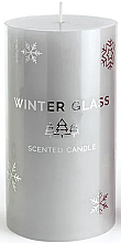 Düfte, Parfümerie und Kosmetik Duftkerze grau 7x13 cm - Artman Winter Glass