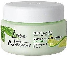 Düfte, Parfümerie und Kosmetik Mattierende Gesichtslotion mit Teebaum und Limette - Oriflame Love Nature Mattifyng Face Lotion