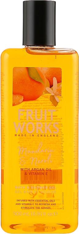 Bade- und Duschgel mit Mandarine und Neroli - Grace Cole Fruit Works Bath & Shower Mandarin & Neroli — Bild N1