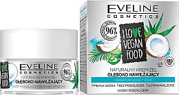 Düfte, Parfümerie und Kosmetik Feuchtigkeitsspendendes Creme-Gel für das Gesicht mit Aloe Vera und Kokosnusswasser - Eveline I Love Vegan Food Face Kream