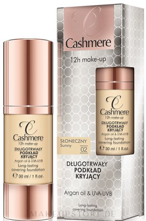 Langanhaltende Foundation mit Arganöl und hoher Deckkraft - Dax Cashmere 12h Make-up Long-lasting Covering Foundation — Bild 02 - Sunny