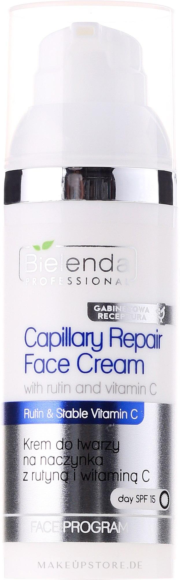 Gesichtscreme mit Vitamin C für Rosazea-Haut - Bielenda Professional Capilary Repair Face Cream — Bild 50 ml