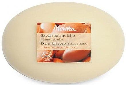 Seife mit Kokos- und Arganöl - Melvita Extra-Rich Soap — Bild N1