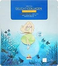 Intensiv feuchtigkeitsspendende Gesichtsmaske mit natürlichem Kollagen - Sally's Box Delight Collagen Hydrogel Mask — Bild N1