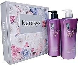 Düfte, Parfümerie und Kosmetik Haarpflegeset - Kerasys Salon Care Straightening Ampoule (Shampoo 470ml + Haarspülung 470ml)
