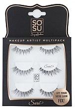 """Düfte, Parfümerie und Kosmetik Set Künstliche Wimpern """"Sara"""" - Sosu by SJ Makeup Artist Multipack Eyelashes"""