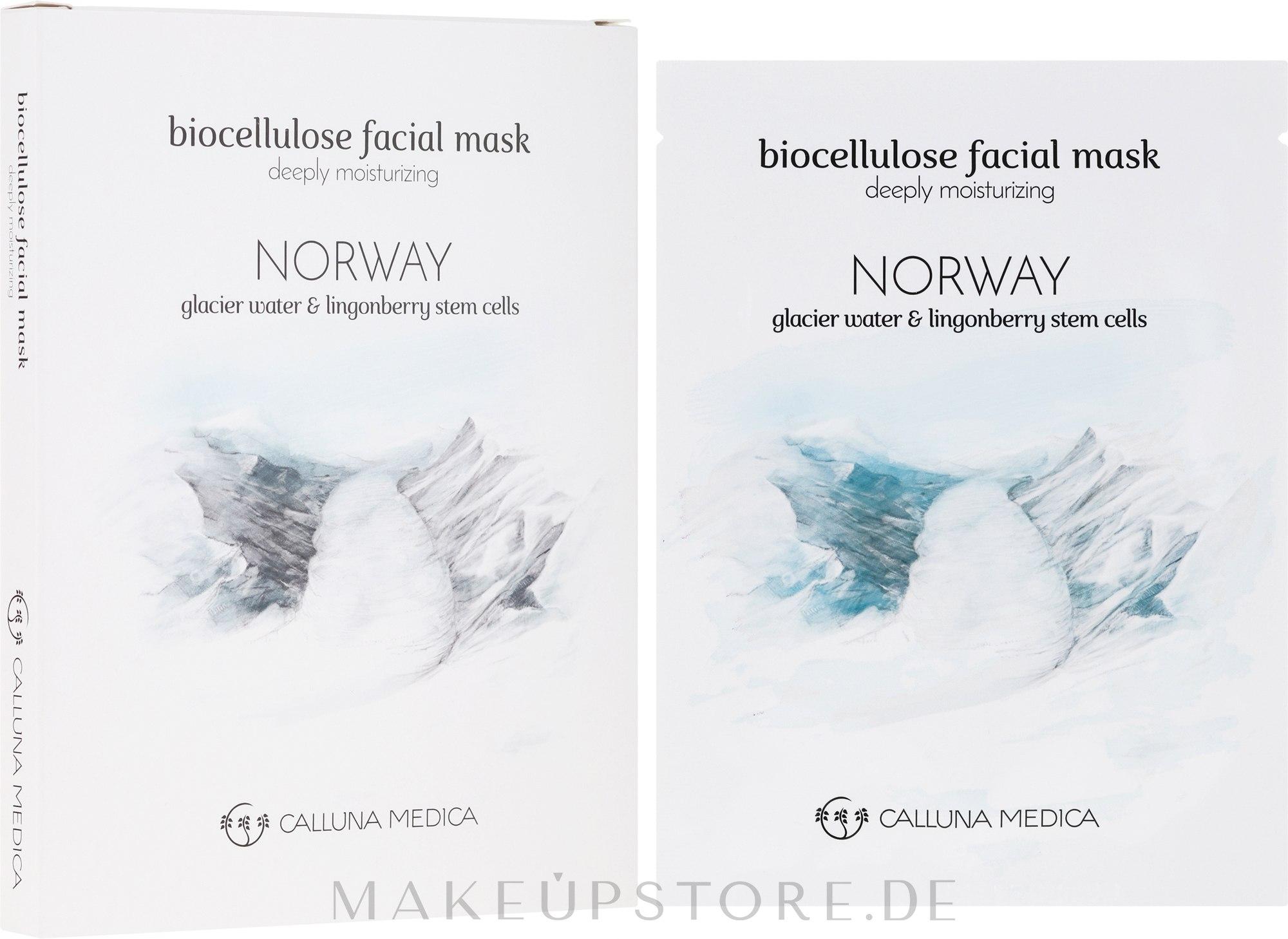 Feuchtigkeitsspendende Tuchmaske für das Gesicht Norwegen - Calluna Medica Norway Deeply Moisturizing Biocellulose Facial Mask — Bild 12 ml
